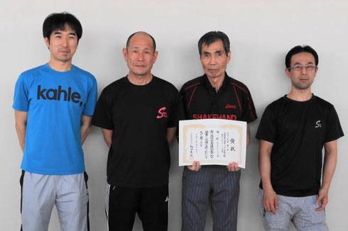 Bチーム優勝メンバー左から坂野 角 尾崎 和田。