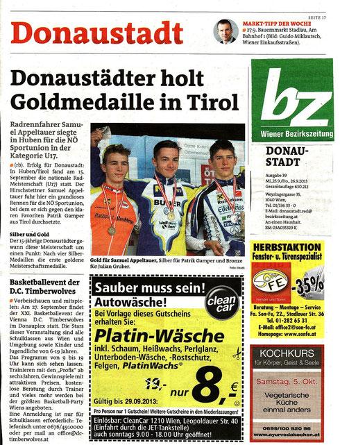 Bericht Wiener Bezirkszeitung v. 26.09.2013