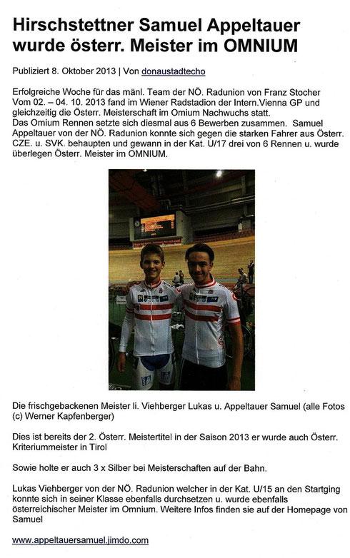 Donaustadtecho - Online  Portal  08.10.2013