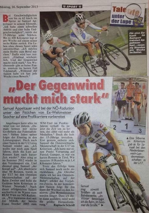 Pressebericht NÖ-Kronenzeitung v. 16.9.2013