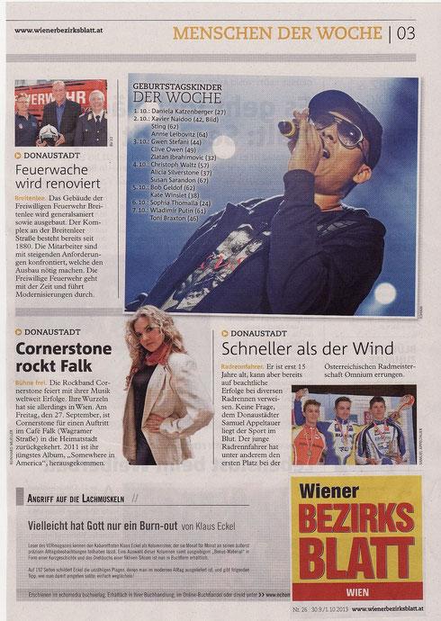 Wiener Bezirksblatt v. 01.10.2013