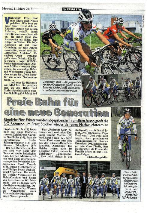 Pressebericht Kronenzeitung NÖ -Teamvorstellung