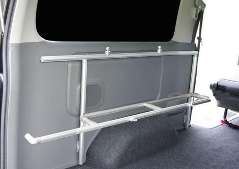 ハイエース NV350 室内キャリア 車内キャリア キャリア 収納 トランポ トランポプロ ラゲッジ ウォルキャリア1