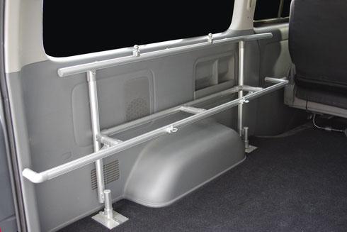 ハイエース NV350 室内キャリア 車内キャリア キャリア 収納 トランポ トランポプロ ラゲッジ ウォルキャリア2