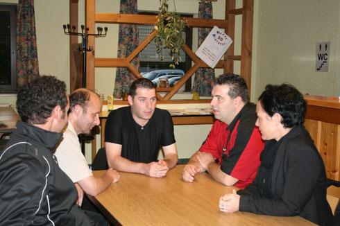 Mit Elmar Paulke, Herrn Stromberg :D, Jyhan und Anja bei unserer Exhibition
