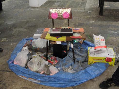 Müllklänge von Mathias Seidel und Charlie Bernsdorf, Foto: Nadine Schröder