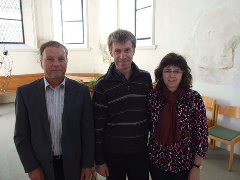 Von links: Werner Künzler, Ueli Steiner, Elisabeth Steiner