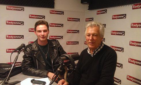 Alexandre Lucet et Jean-Claude Coulonge aux studios de Radyonne FM à Auxerre Les Vinyls