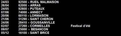 Concerts en 2003