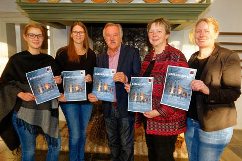 Das Redaktionsteam: v. l. n. r.: Anke Wielebski, Ursula Schürmanns, Herbert Kättner, Birgit Jahrke, Maren Rose-Hessler