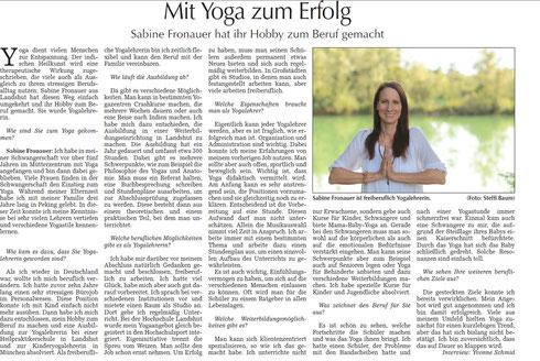 Interview in der Landshuter Zeitung 07.09.2013