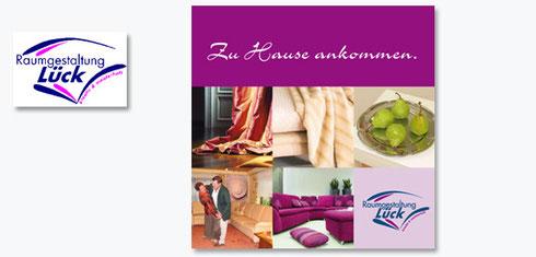 Imagebroschüre Raumausstattung Lück, Volkach