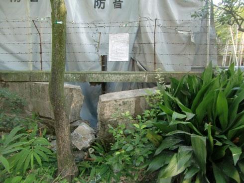 9月26日工事中に泉岳寺参道側にある壁が壊されました。なんと中門から10メートル離れていなところの壁が!これがもし中門のところだったら、確実に中門が壊されてしまいました。まずは中門に何も起こらなくて良かったです。
