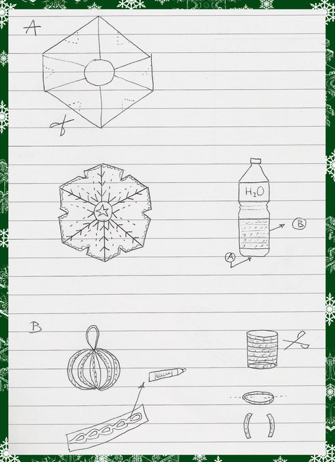 Sketch for the ornaments craft