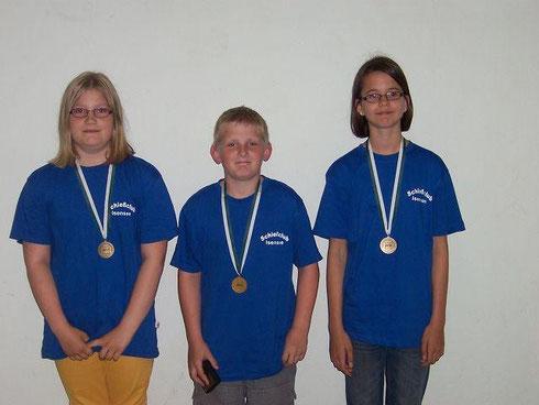 Von links: Chantal Hey, Christian Hey, Marie Dawert