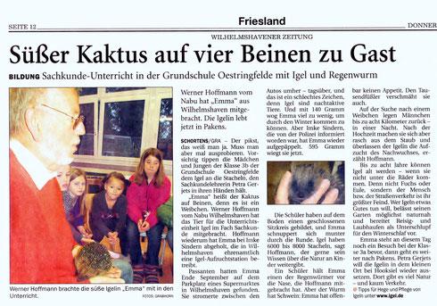 Wilhelmshavener Zeitung v. 23.10.2014