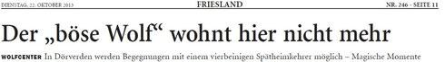 Bericht v. C.Hinz, Jev.W.Bl. v. 22.10.2013, über das Wolfscenter Dörverden   - bitte PDF-Datei anklicken -