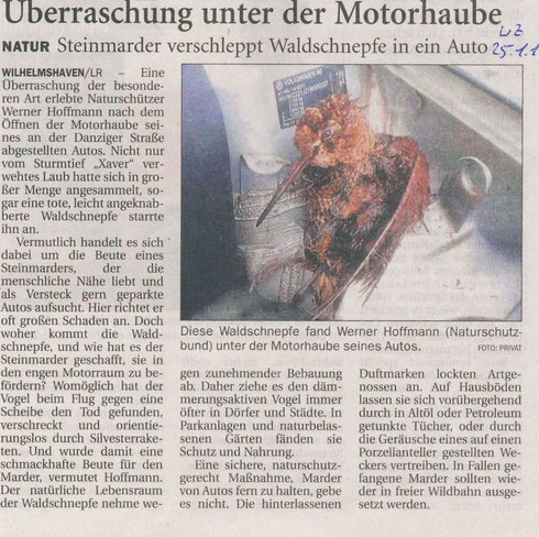 Wilhelmshavener Zeitung v. 25.01.2014
