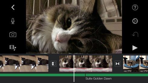 iMovie編集中