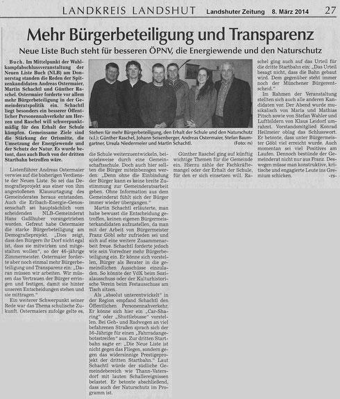 Artikel zur Wahlabschlussveranstaltung 6. März 2014