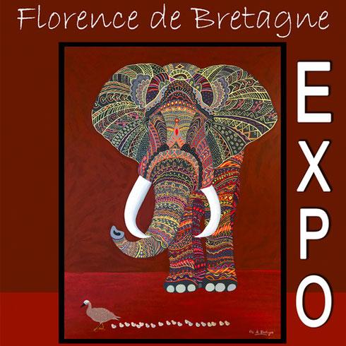 Exposition Florence de Bretagne au Château de Condé - saison 2019