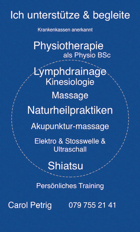 Physiotherapie Carol Meggen, Carol Praxis Meggen, Physiothperapie  Carol Küssnacht, Meggen,