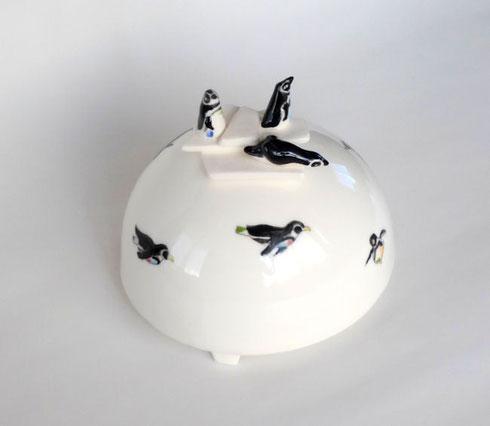 ペンギンの花瓶