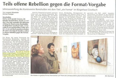 Künstler Wilhelm Schall Plüderhausen, Stuttgart, Kunst kaufen, Kunst mieten.