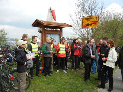 Eröffnung der Storchenrouten auf dem Storchenfest in Leiferde