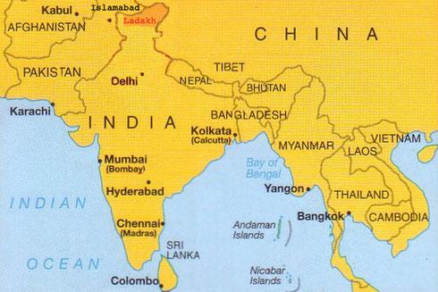 Situation du Ladakh en Inde