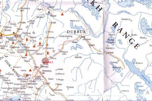 Situation du village de Sakti