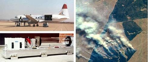 飛行機に搭載して火災のモニタリングなど使用されています。