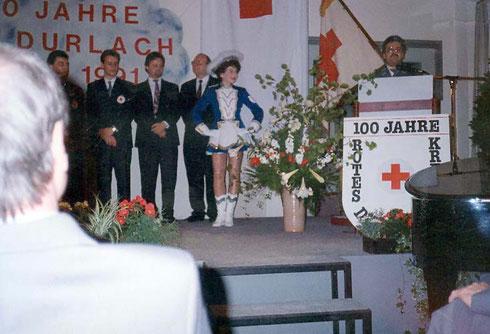 1991: Festakt anlässlich 100-jährigem Bestehen des Roten Kreuzes Durlach