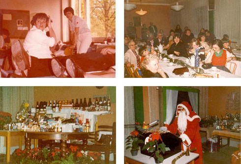 1982: Ein erfolgreiches Jahr - Impressionen von der Blutspende sowie der Weihnachtsfeier