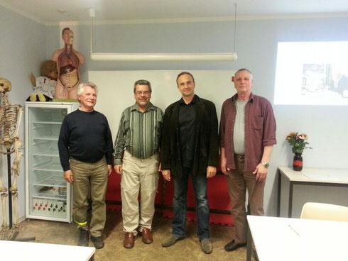 v.l.n.r.: Justiziar P. Christ, VS B. Warter, Bereitschaftsarzt Dr. J. Wawer-Matos, stv. VS D. Göthel