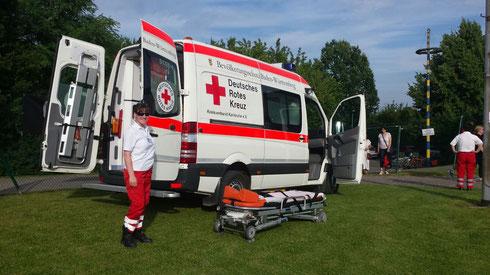 Betreuung und Absicherung bei Sanitätswachdiensten, hier: 3. Bergdorfmeile Hohenwettersbach