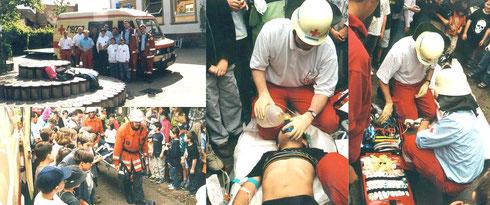 1996: Mitwirkung im Katastrophenschutz, Rettungsdienst und Öffentlichkeitsarbeit