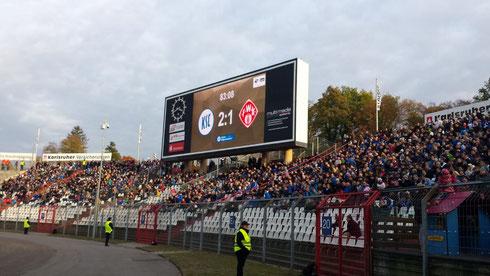 Tor und Sieg für den KSC in der 83. Spielminute... Heimsieg vor mehr als 24.317 Zuschauern!