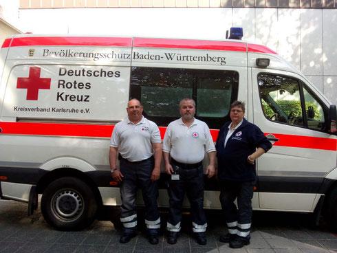 v.l.n.r.: Andreas Raupp, Marc Theiner und Pamela Stenzel. An der Kamera Margarete Kall...