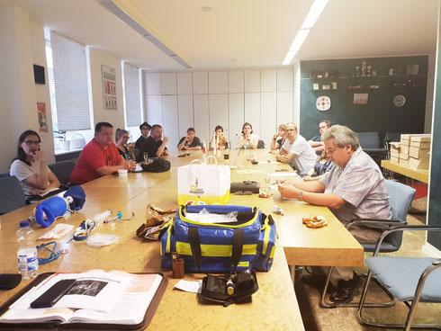 Blick in unseren Ausbildungsraum während des Kameradschaftsabends