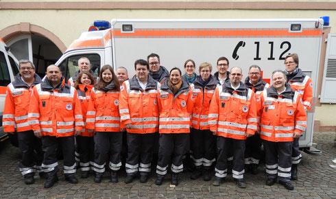 Gruppenfoto der Einsatzkräfte beim ersten Einsatz in den neuen Uniformen am 26. Februar 2017