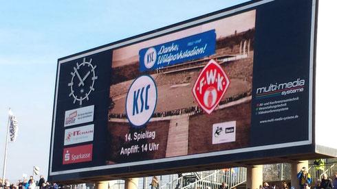 14. Spieltag in der 3. Bundesliga... kurz vor dem Anpfiff im Wildparkstadion