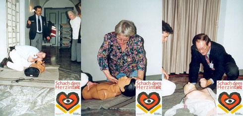 """1999: Unter dem Motto """"Schach dem Herzinfarkt"""" - Durlacher Herzwoche vom 01.-08. November"""