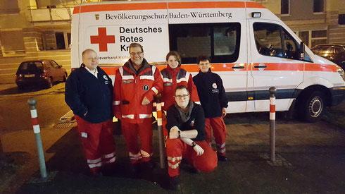 Das Team für die sanitätswachdienstliche Absicherung im Südwerk