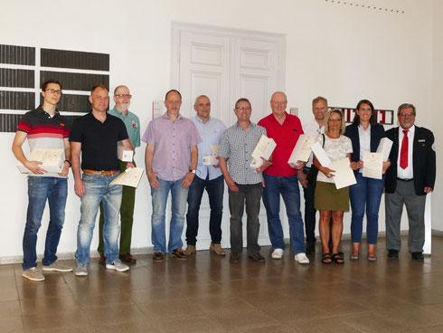 Blutspenderehrung im Rahmen der Ortschaftsratssitzung am 17. Mai 2017 im Rathaus Durlach