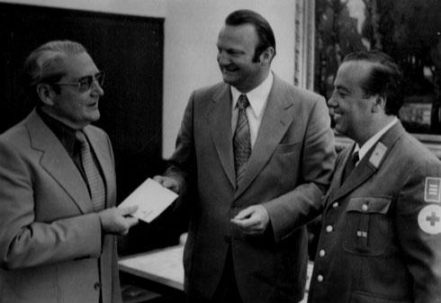 1976: Tag der guten Tat, rechts im Bild Ehrenbereitschaftsleiter Herbert Warter