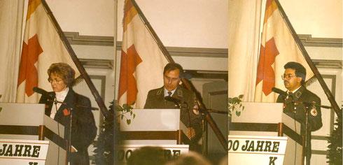 1991: Festredner Sozialministerin Barbara Schäfer, KBL Günter Held und BL Bernhard Warter