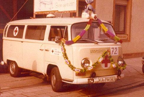 1979: Eigener Mottowagen beim Fastnachtsumzug 1979