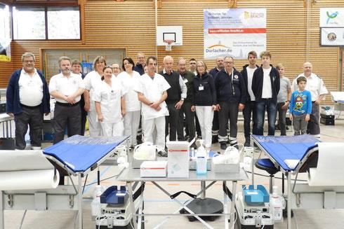 Teammitglieder Bereitschaft Durlach, Rettungshunde Pforzheim, Ärzte, JRK, BSD Baden-Baden