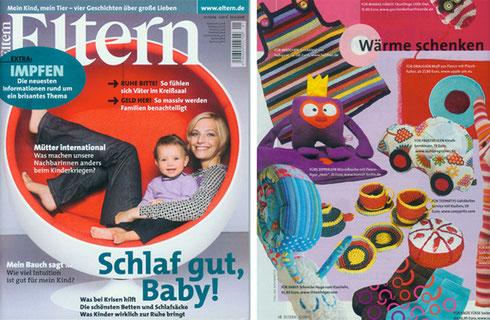 Eltern. Heft 1/2009. Auf den Seiten 18 und 34.